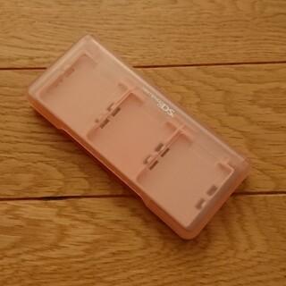 ニンテンドーDS(ニンテンドーDS)の【美品】DS ゲームソフト保管ケース ピンク(携帯用ゲームソフト)