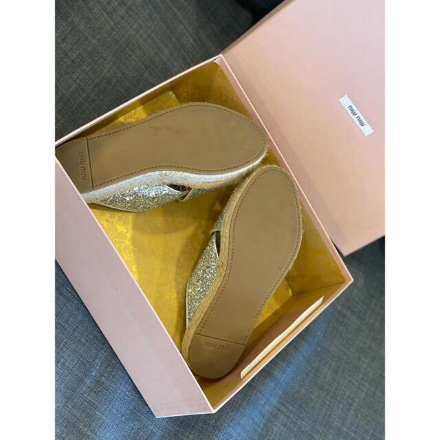 miumiu(ミュウミュウ)のmiumiu✩厚底ラメサンダル✩伊勢丹購入 レディースの靴/シューズ(サンダル)の商品写真