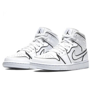 ナイキ(NIKE)のNIKE WMNS AIR JORDAN 1 MID SE REFLECT 白(スニーカー)