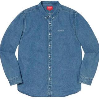 Supreme - Supreme Classic Logo Denim Shirt  M 20fw
