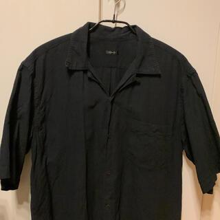 COMOLI - COMOLI ベタシャン オープンカラーシャツ ブラック 2