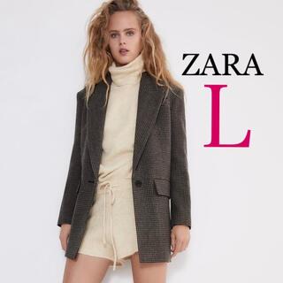 ZARA - 新品未使用 ZARA 千鳥格子柄ジャケット L チェック柄 ザラ