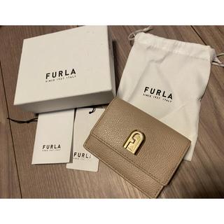 Furla - FURLA 三つ折財布 ベージュ