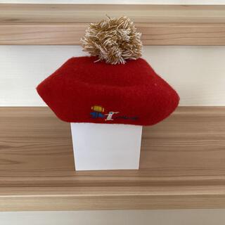 エフオーキッズ(F.O.KIDS)のF.O.KIDS   エフオーキッズ ベレー帽 赤 サイズ48cm(帽子)