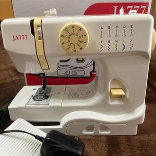 JANOME コンパクト電動ミシン フットスイッチ付き JA777