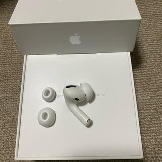 アップル(Apple)の美品 エアーポッズ AirPodsPro L 左耳のみ イヤーチップ付き(ヘッドフォン/イヤフォン)