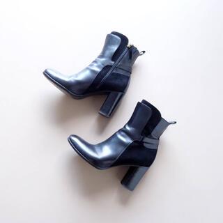 SARTORE - ■サルトル■ 36 黒 ショートブーツ 8cmヒール SARTORE