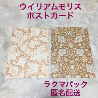 2枚 ウイリアムモリス ポストカード ブラウン系(印刷物)