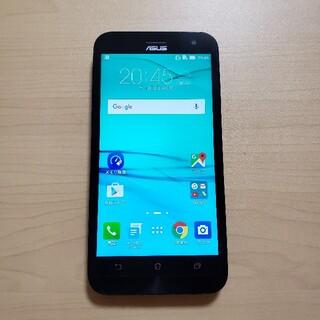 エイスース(ASUS)のASUS SIMフリー スマートフォン Android 中古 動作確認済み 黒(スマートフォン本体)