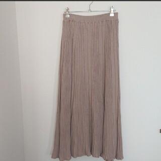 Discoat - ディスコート ニットロングスカート プリーツスカート