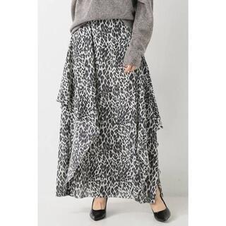 IENA - 未使用 16AW IENA LA BOUCLE レオパード スカート