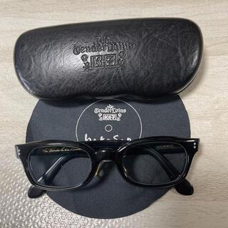 テンダーロイン(TENDERLOIN)の人気品! TENDERLOIN 白山眼鏡 インザウィンド ブラック シルバー 黒(サングラス/メガネ)