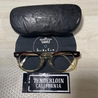 テンダーロイン(TENDERLOIN)の希少品! TENDERLOIN 白山眼鏡 T-JERRY ブラウン キハク 茶銀(サングラス/メガネ)