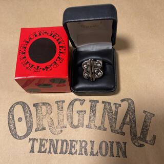 テンダーロイン(TENDERLOIN)の希少品! TENDERLOIN ダラー リング 8K ゴールド シルバー 金 銀(リング(指輪))