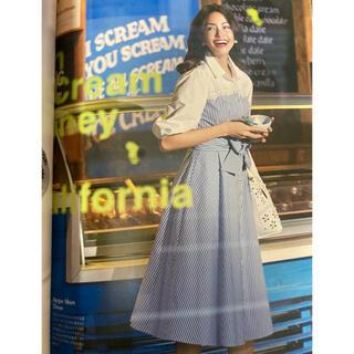 エムズグレイシー(M'S GRACY)の新品 エムズグレイシー ストライプシャツ ワンピース カタログ掲載(ロングワンピース/マキシワンピース)
