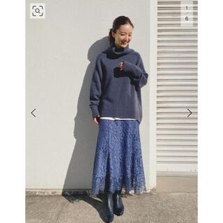 IENA - イエナ 今季完売 レース裾フレアスカート ブルー38 新品タグ付き