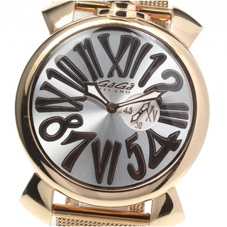 ガガミラノ(GaGa MILANO)のガガミラノ マヌアーレ スリム46 5081.2 メンズ 【中古】(腕時計(アナログ))
