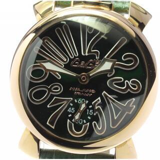 ガガミラノ(GaGa MILANO)のガガミラノ マヌアーレ48 スモールセコンド 5011.04 メンズ 【中古】(腕時計(アナログ))