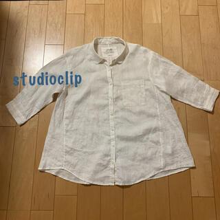 STUDIO CLIP - studio clip  麻100%ホワイトシャツ