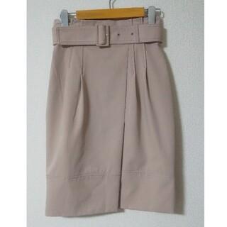 JUSGLITTY - JUSGLITTY 落ち着いたピンクの膝丈スカート