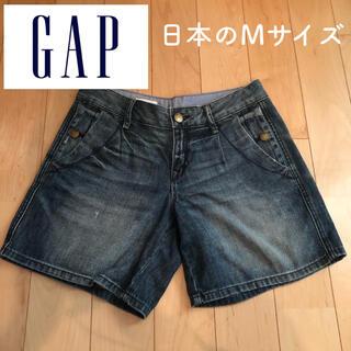 ギャップ(GAP)のGAP キャップ デニムショートパンツ ハーフパンツ Mサイズ(ハーフパンツ)