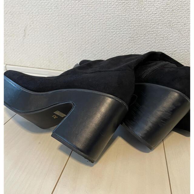 ENVYM(アンビー)のEMVYM今季スクエアニーハイブーツ レディースの靴/シューズ(ブーツ)の商品写真