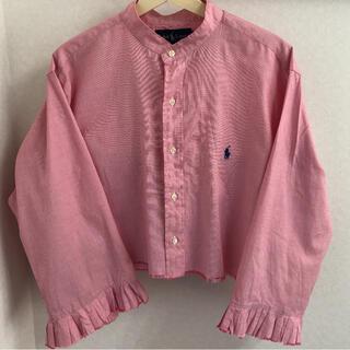 サンタモニカ(Santa Monica)のSanta Monica  ラルフローレンリメイクシャツ バンドカラープリーツ袖(シャツ/ブラウス(長袖/七分))