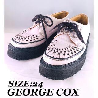 ジョージコックス(GEORGE COX)の【早い者勝ち】★ジョージコックス★ 定番ブーツ ラバーソール ホワイト(ブーツ)