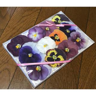 a①  4点限定品500円‼️銀の紫陽花が作ったパンジーのドライフラワー(ドライフラワー)