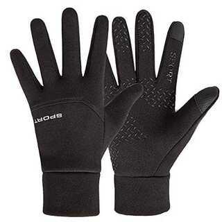 黒-LJETEDC(ジェットイデイシイ)手袋 雪掃除 滑り止め 裏起 毛防水 防(ウエア/装備)