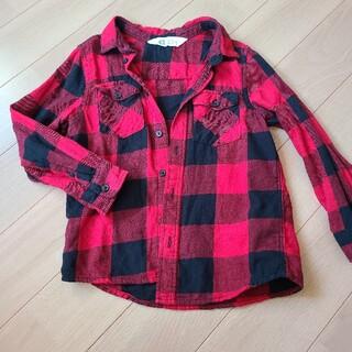 エイチアンドエム(H&M)のチェックシャツ(Tシャツ/カットソー)