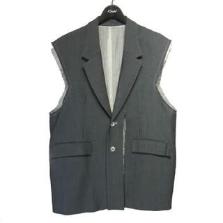 SUNSEA - soduk 20SS open slit jacket ノースリーブジャケット
