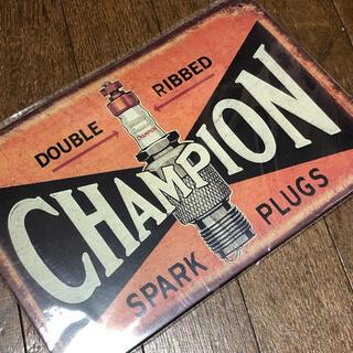 チャンピオン(Champion)のCHAMPION PLUG ブリキ看板(その他)