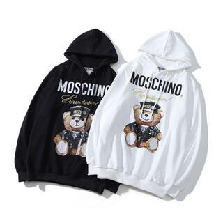 モスキーノ(MOSCHINO)の152#MOSCHINO 2枚12000円モスキーノくま柄長袖パーカー(パーカー)