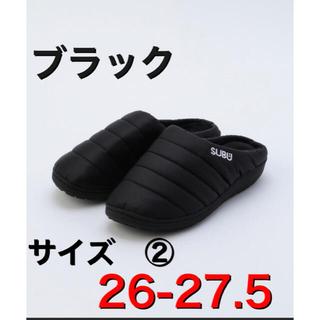 【新品】SUBU サンダル サイズ② ブラック26-27.5センチ スブ