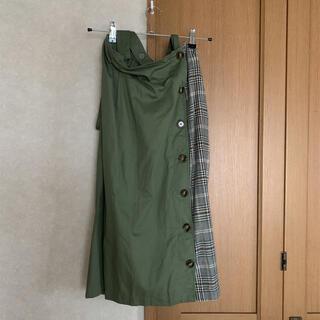 シマムラ(しまむら)のカーキ スカート(ひざ丈スカート)