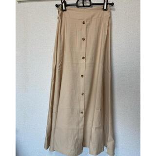 新品  ベージュのロングスカート(ロングスカート)