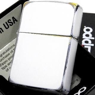ジッポー(ZIPPO)の送料無料☆zippo☆ダメージホワイト☆オールドフィニッシュ☆ジッポ(タバコグッズ)