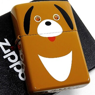 ジッポー(ZIPPO)の送料無料☆zippo☆両面☆ワンちゃん☆ジッポ(タバコグッズ)