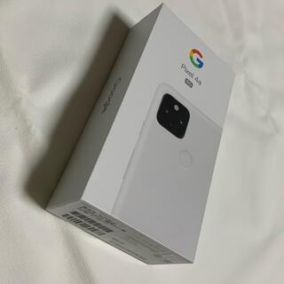 グーグル(Google)の【新品未通電】Google Pixel 4a(5G)Clealy White(スマートフォン本体)