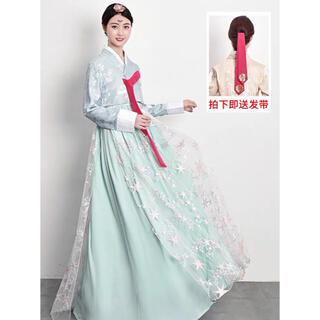 豪華 オシャレシルエットもカラーも可愛い韓国の「チマチョゴリ」M(衣装一式)