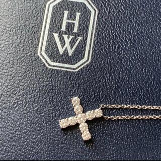 ハリーウィンストン(HARRY WINSTON)のharry winston ハリーウィンストン ミニ クロスダイヤネックレス(ネックレス)