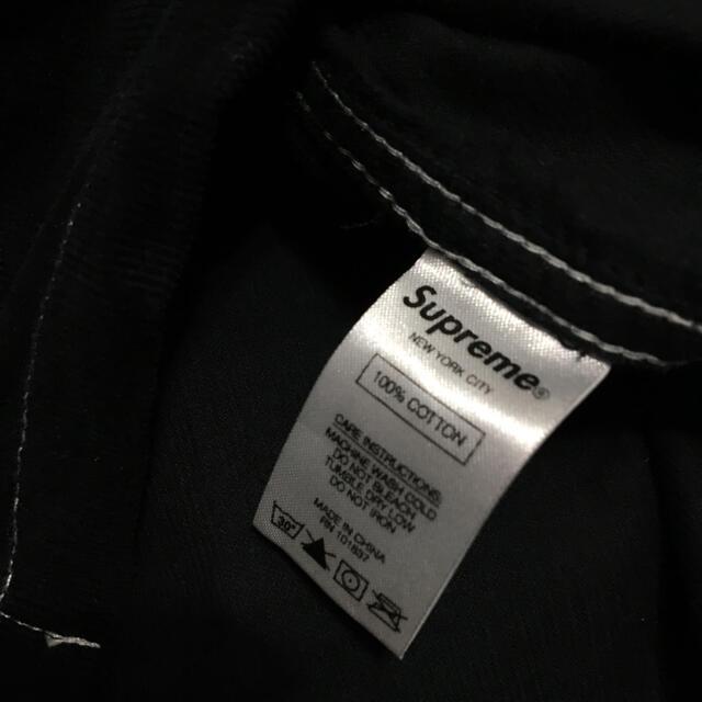 Supreme(シュプリーム)のsupreme Corduroy Half Zip Shirt ブラック L メンズのトップス(シャツ)の商品写真