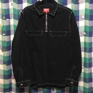 Supreme - supreme Corduroy Half Zip Shirt ブラック L