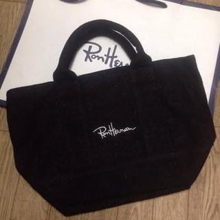 Ron Herman - ロンハーマン ミニトートバック エコバッグ 韓国 ブラック 黒 ハンドバッグ
