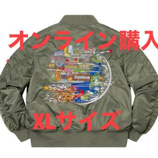 シュプリーム(Supreme)の20aw supreme Globe MA-1(フライトジャケット)