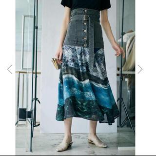 アメリヴィンテージ(Ameri VINTAGE)のAmeri vintage MEDI MARIANA DENIM SKIRT (ロングスカート)