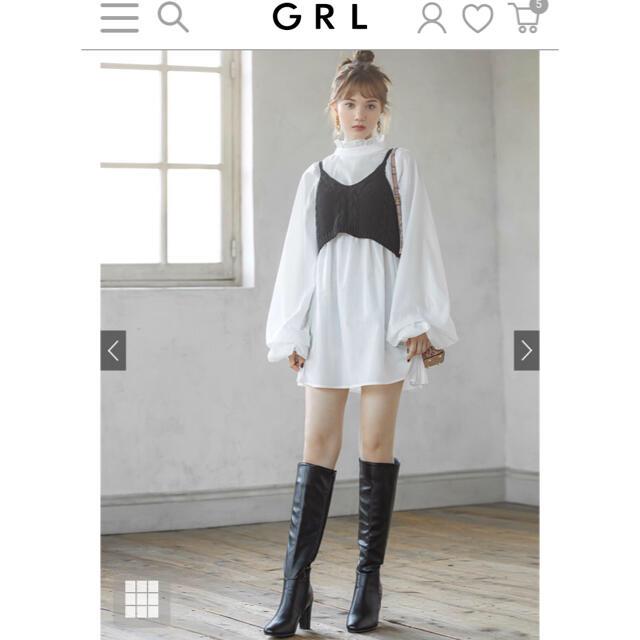 GRL(グレイル)のGRL 白石麻衣 スクエアトゥ ロングブーツ 24.5cm レディースの靴/シューズ(ブーツ)の商品写真