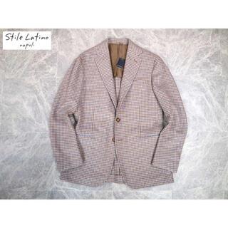 LORO PIANA - スティレラティーノ 26万新品タグ付き最高級ウールハウンドトゥースジャケット