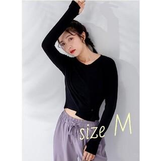 lululemon - タイムセール♡新品 onearts ヨガウェア 長袖トップス 黒 M